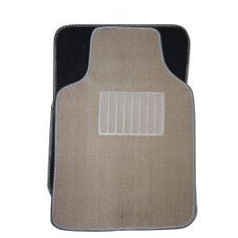 CM160-CAR MAT UNIVERSAL MART-5PCS/set BEIGE COLOUR